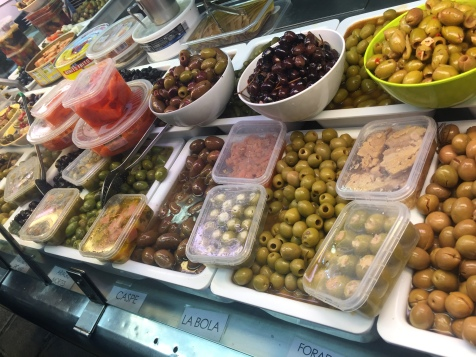 Olives sold at the Mercat
