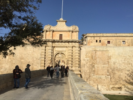 The entrance to the ancient walled city - Mdina