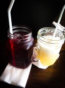 Super fruit iced tea and pineapple juice