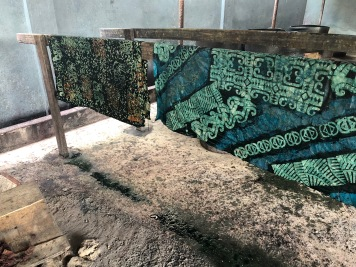 """Batik"" fabric drying"